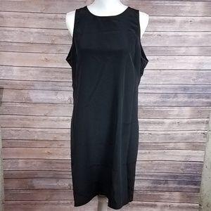 New York & Company Black Cutout Back Midi Dress